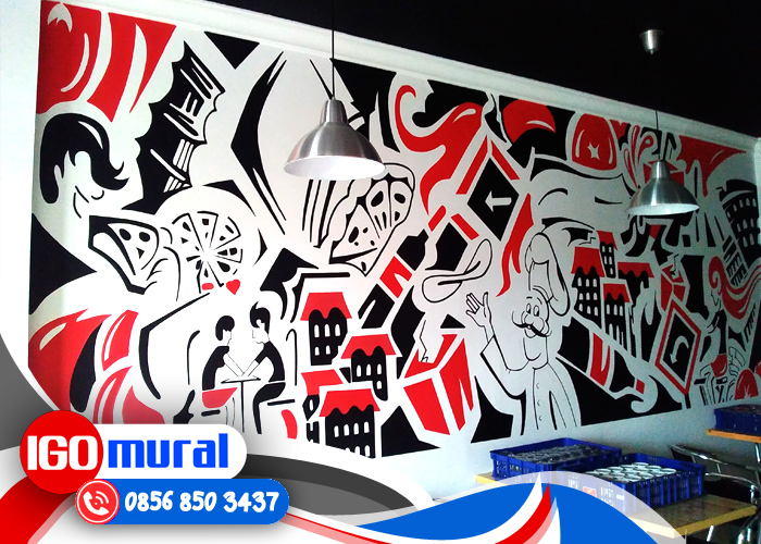 Uncategorized Lukisan Mural Hitam Putih